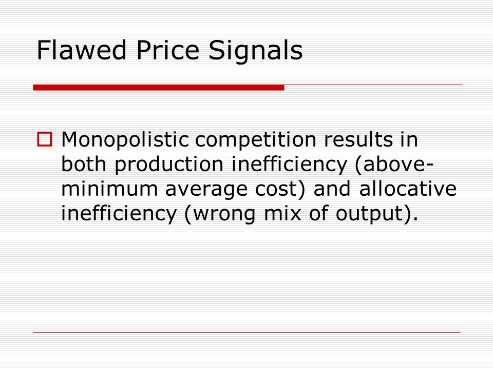Flawed Price Signals