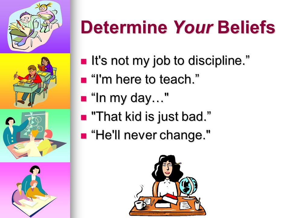 Determine Your Beliefs