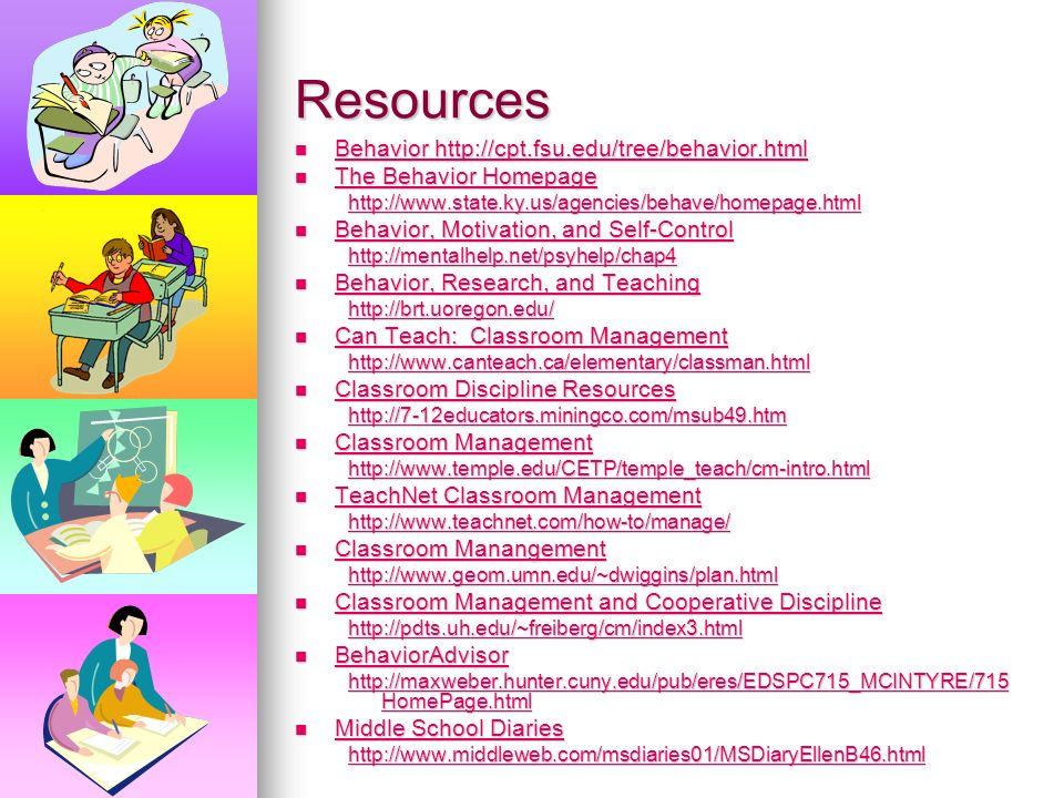 Resources Behavior