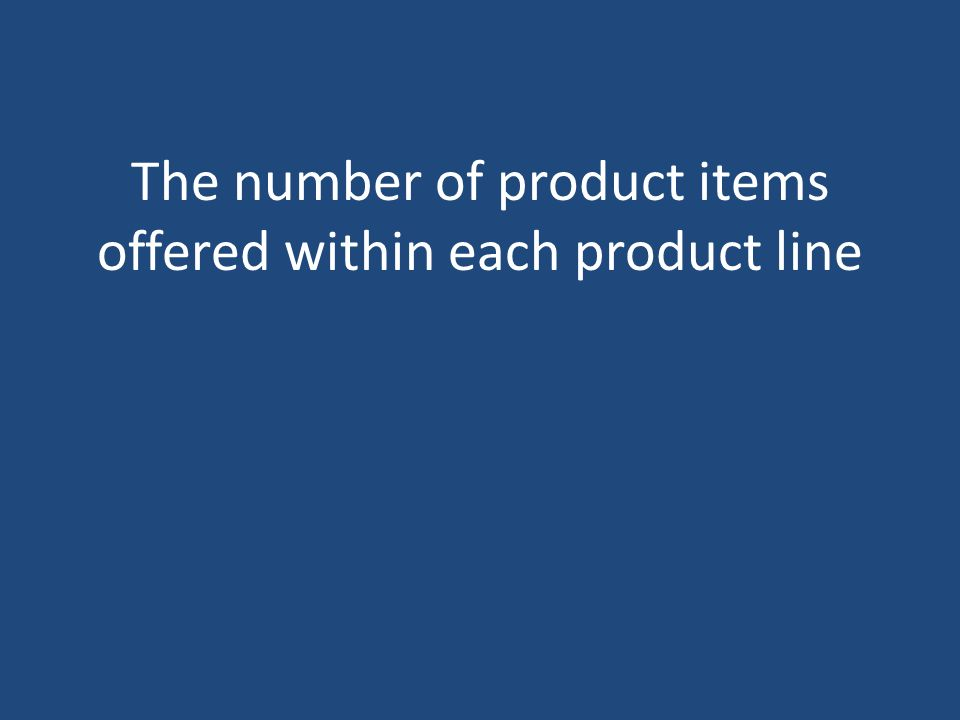 The number of product items offered within each product line