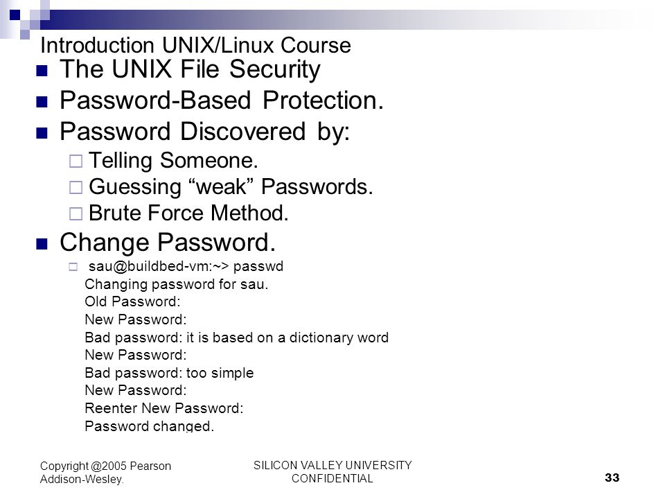 unix file protection Unix file protection default protection hidden files serve many purposes for example, an application can store configuration information in a hidden file.