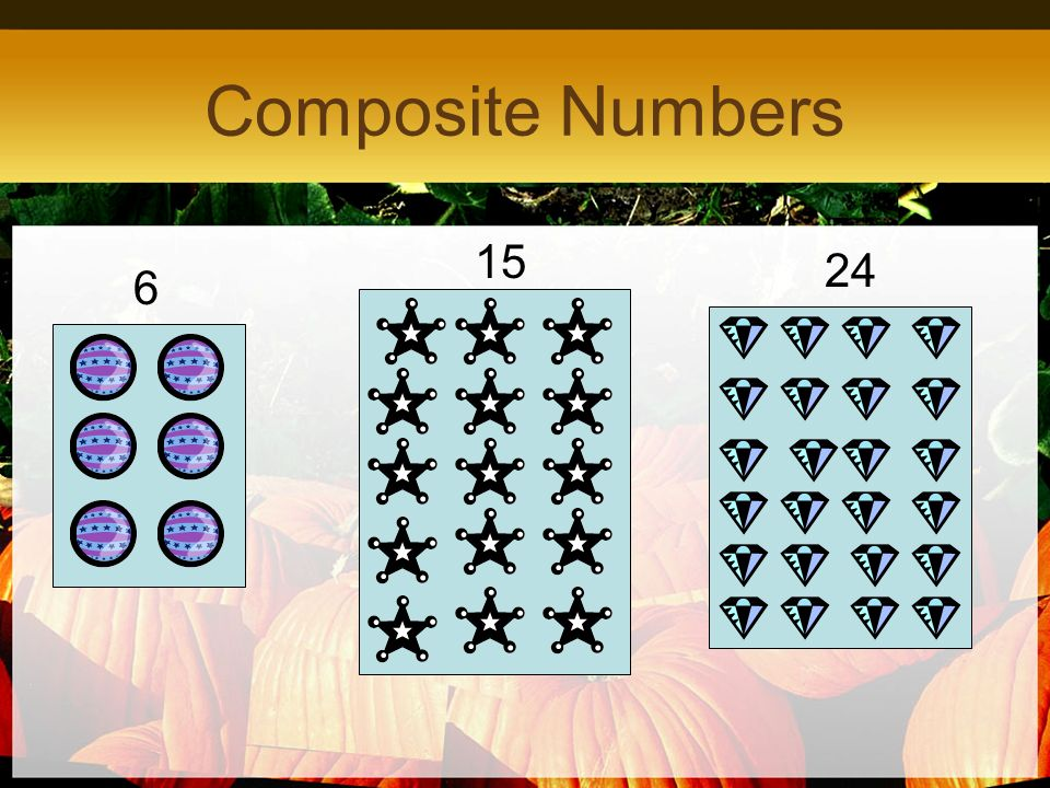 Composite Numbers 15 24 6