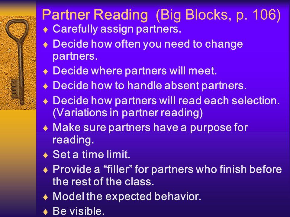 Partner Reading (Big Blocks, p. 106)