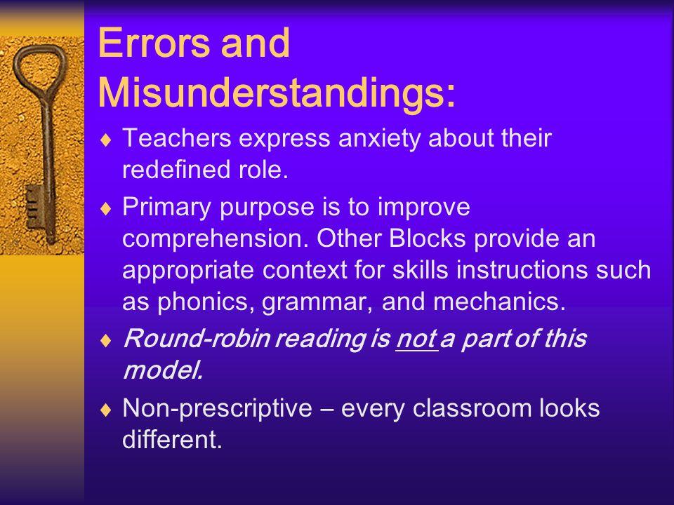 Errors and Misunderstandings: