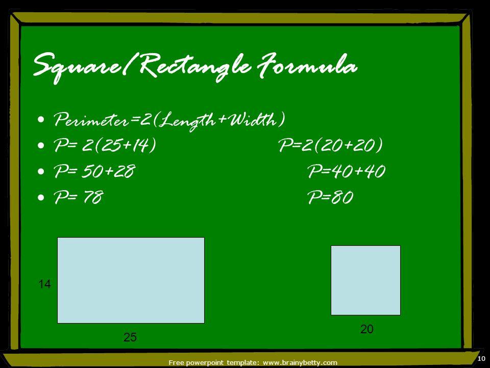 Square/Rectangle Formula