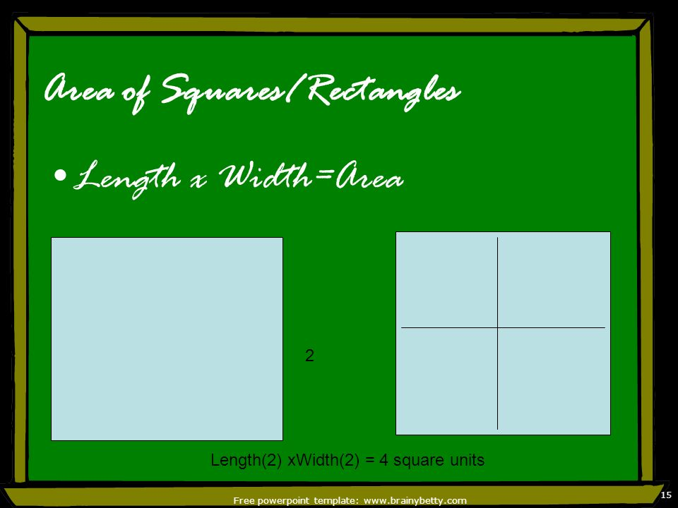Area of Squares/Rectangles