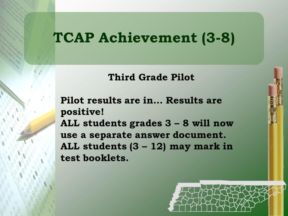TCAP Achievement (3-8) Third Grade Pilot