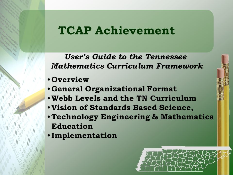 User's Guide to the Tennessee Mathematics Curriculum Framework