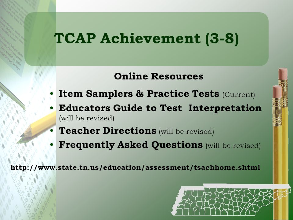 TCAP Achievement (3-8) Online Resources