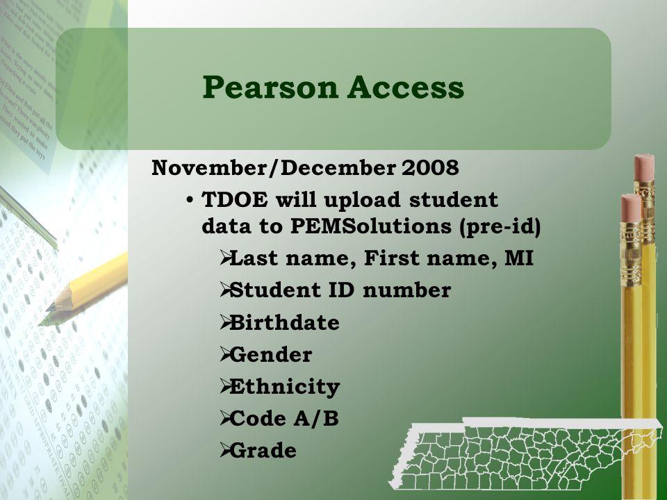 Pearson Access November/December 2008