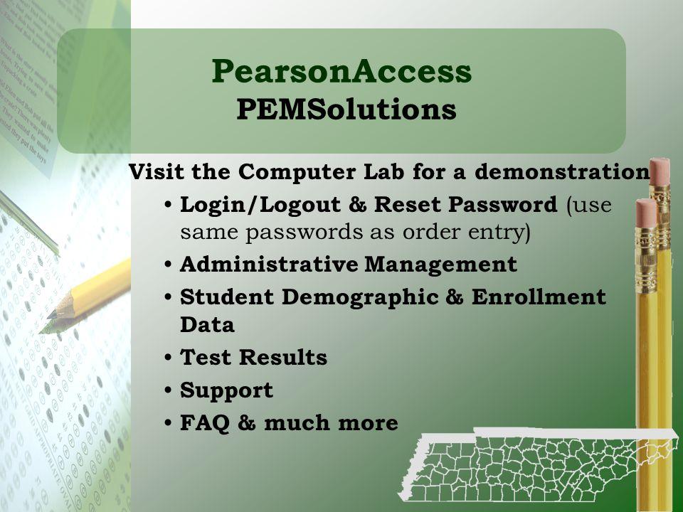 PearsonAccess PEMSolutions