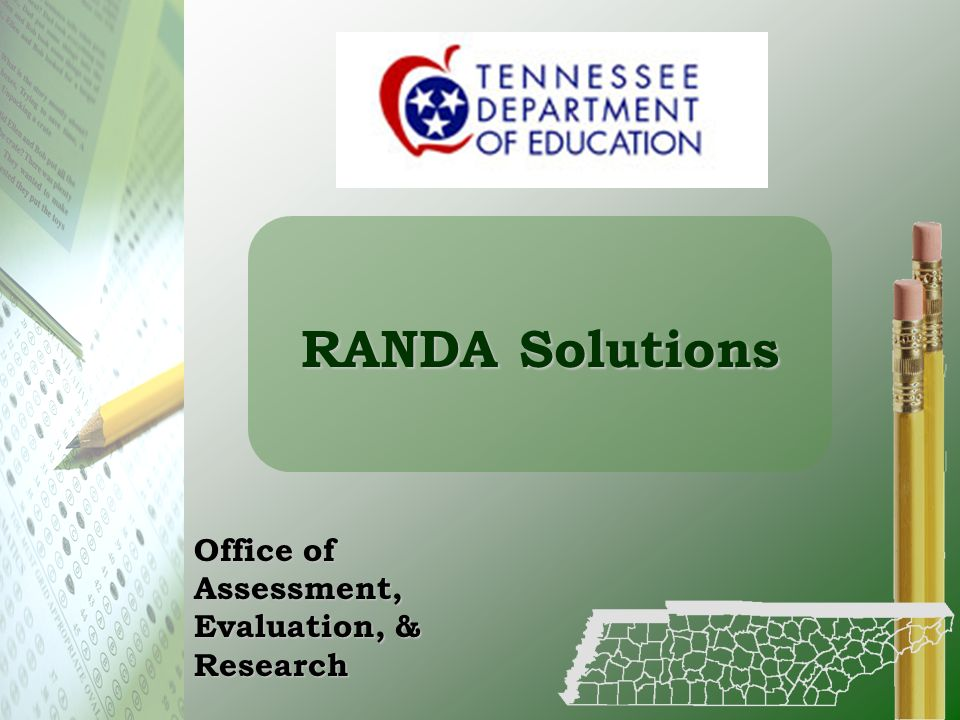 RANDA Solutions Office of Assessment, Evaluation, & Research
