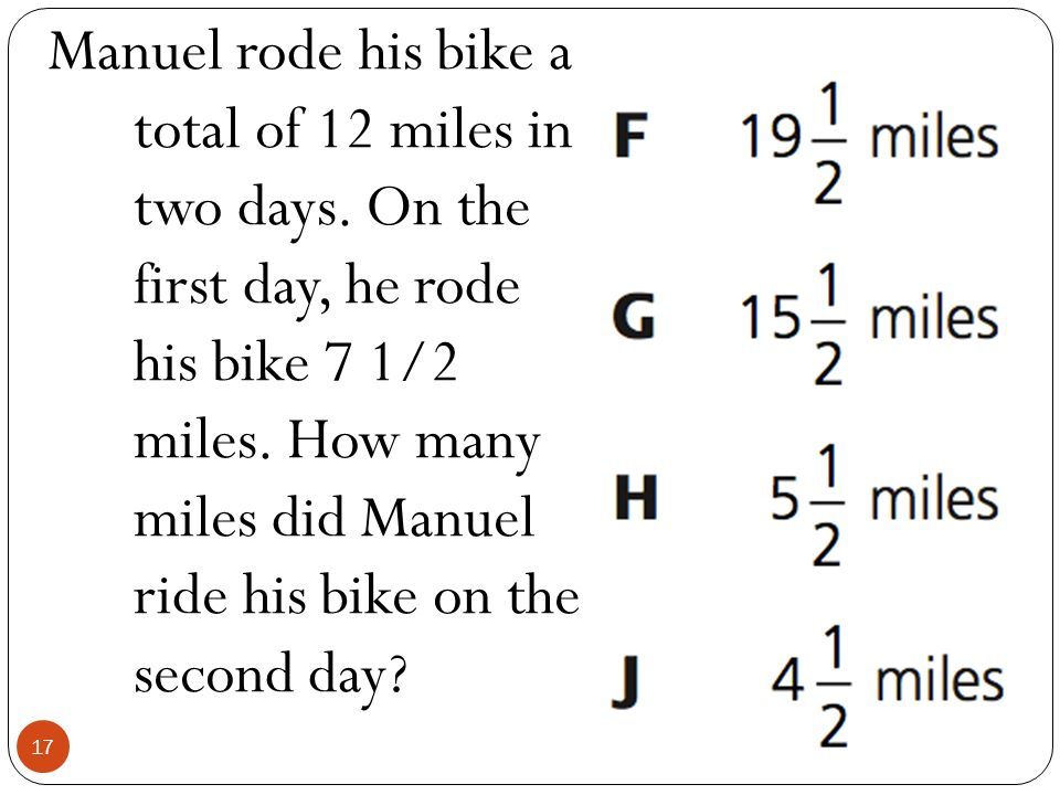 Manuel rode his bike a total of 12 miles in two days