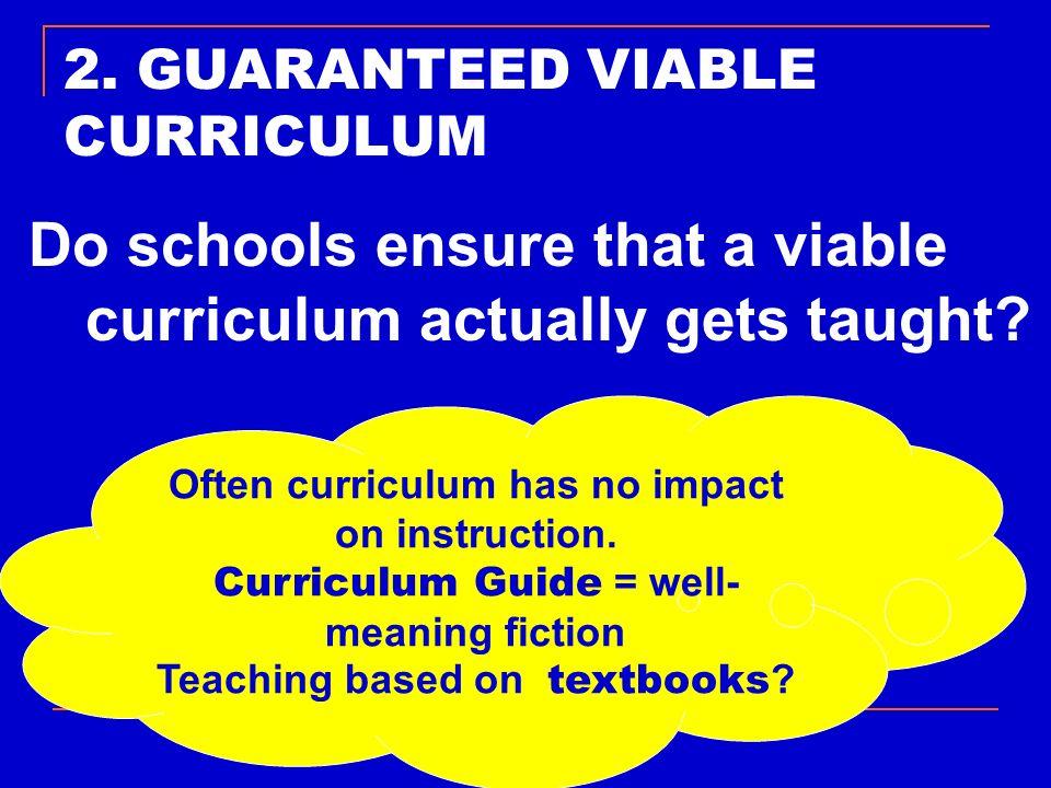 2. GUARANTEED VIABLE CURRICULUM