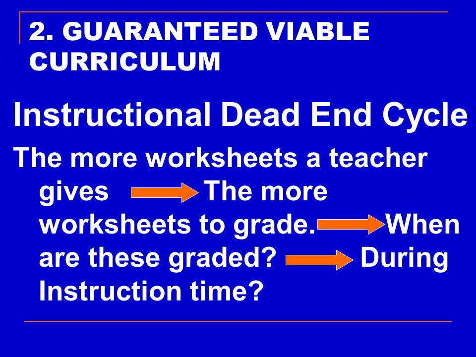 2. GUARANTEED VIABLE CURRICULUM