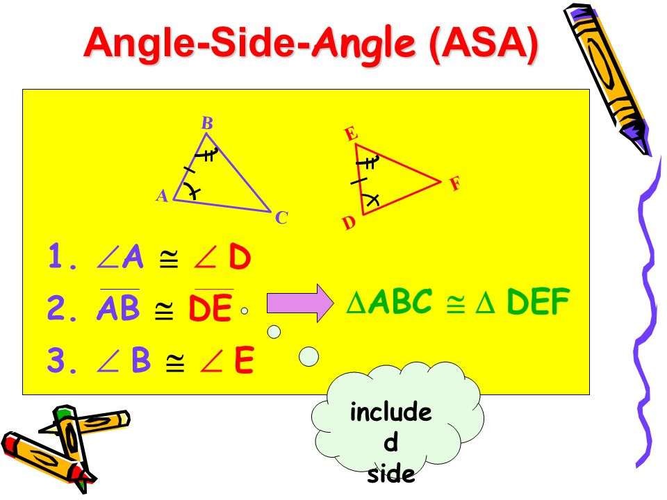 Angle-Side-Angle (ASA)