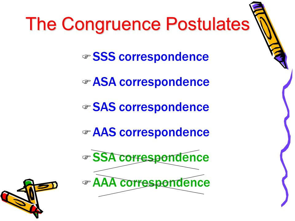 The Congruence Postulates