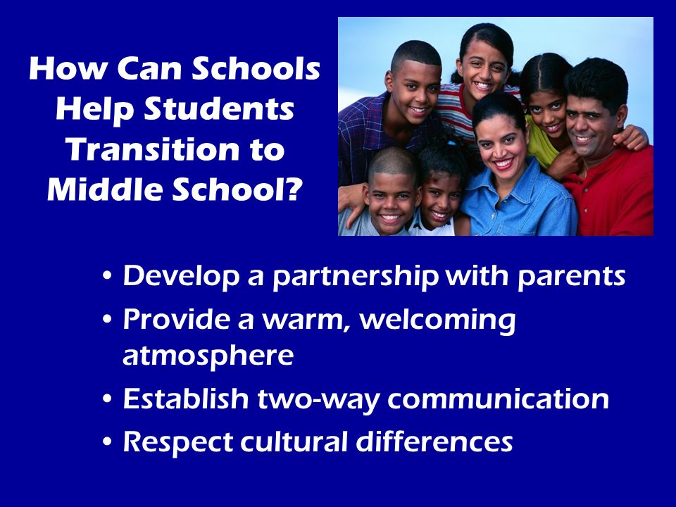 How Can Schools Help Students Transition to Middle School