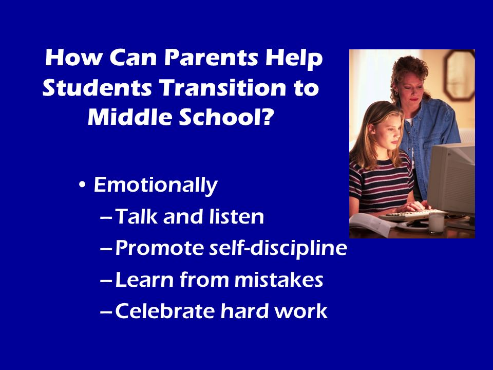 How Can Parents Help Students Transition to Middle School