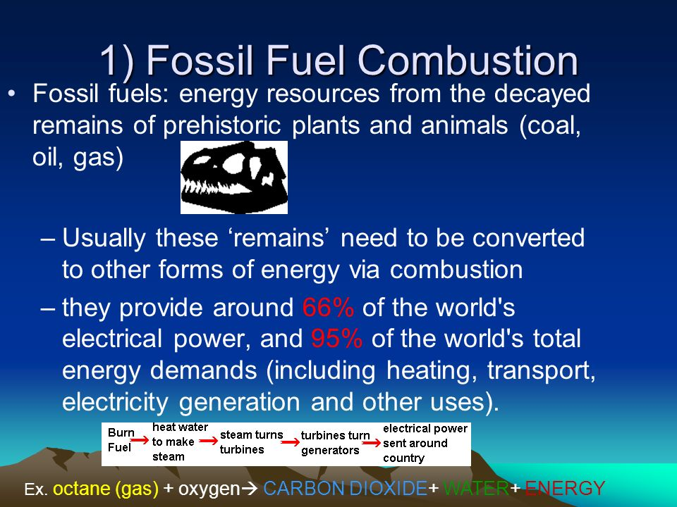 1) Fossil Fuel Combustion