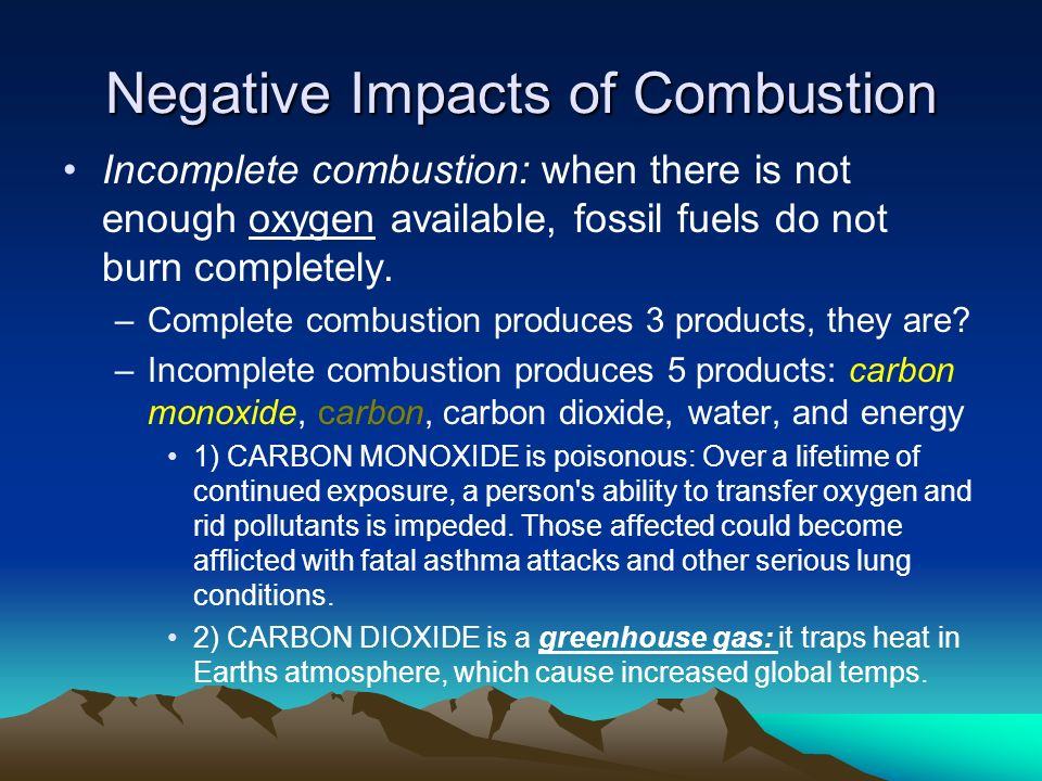 Negative Impacts of Combustion