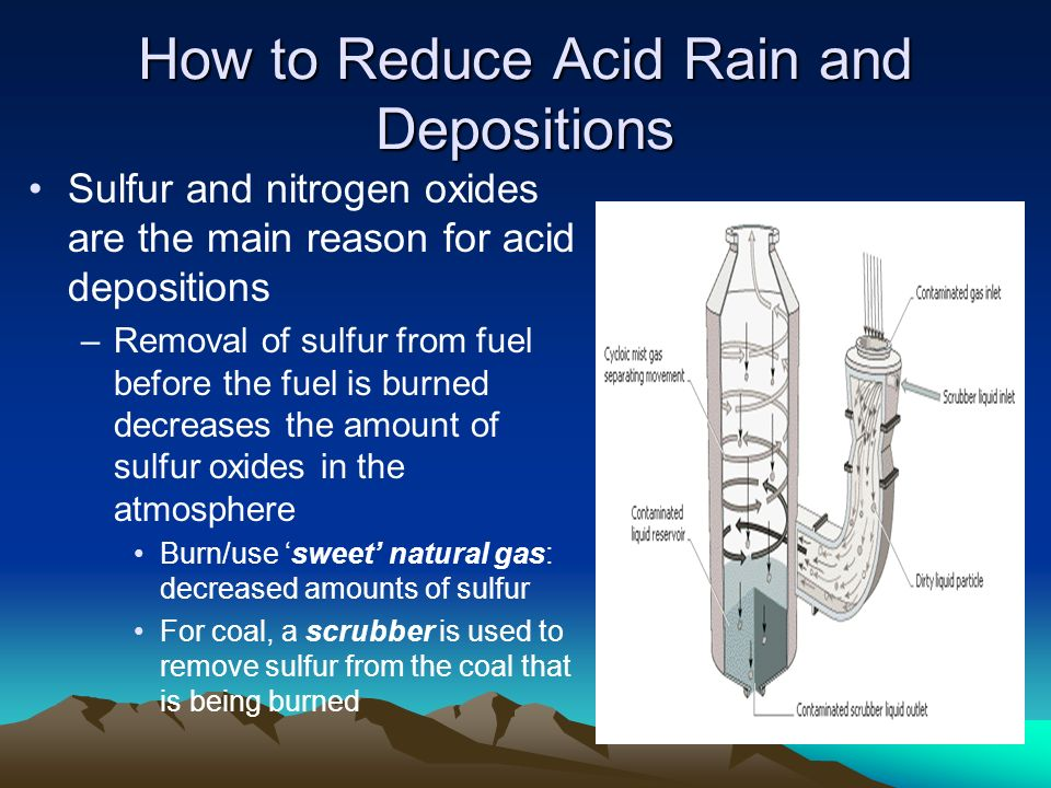 How to Reduce Acid Rain and Depositions