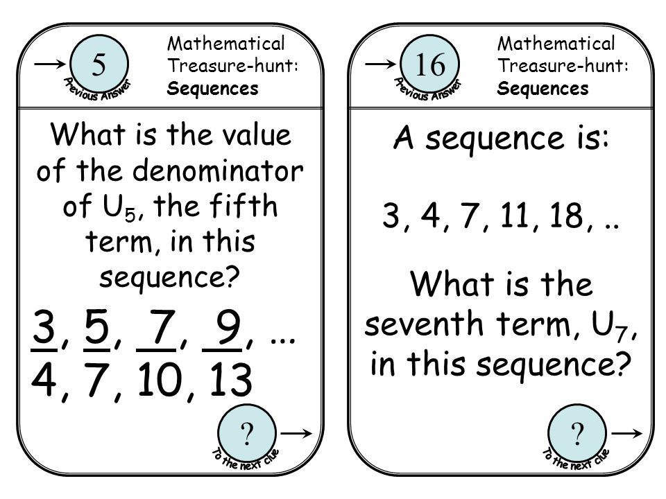 What is the seventh term, U7, in this sequence