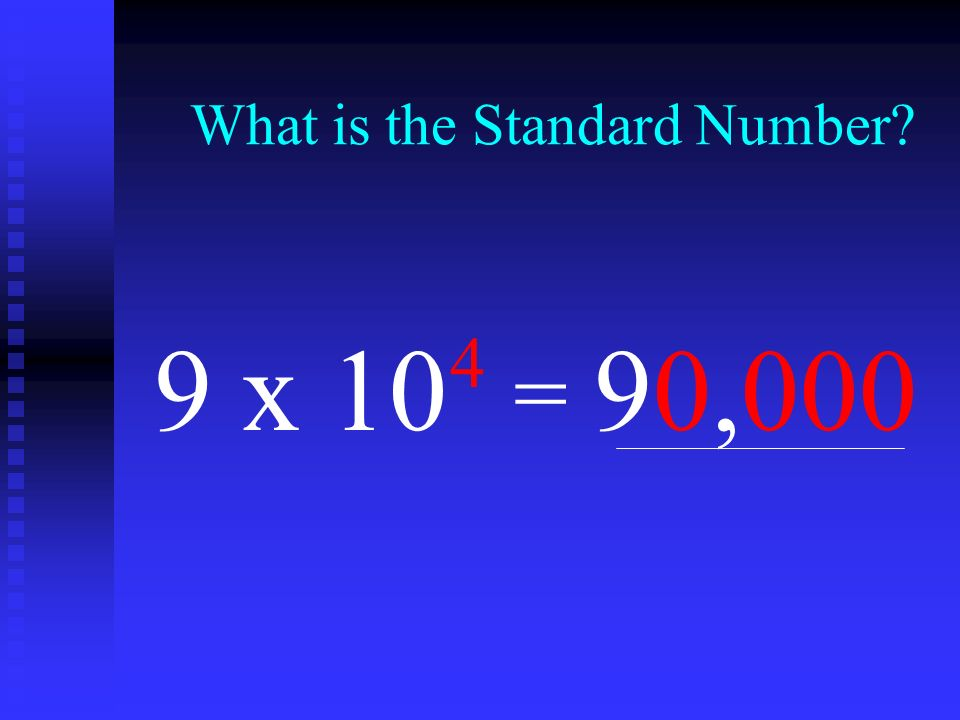 What is the Standard Number