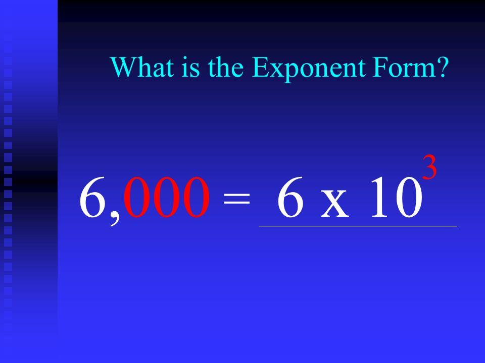 What is the Exponent Form