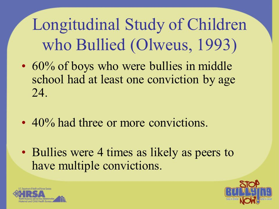an analysis of bullying among children Bullying among children and youth susan p limber and maury m nation recent research in the united states and abroad has documented that bullying is a common and potentially damaging form.