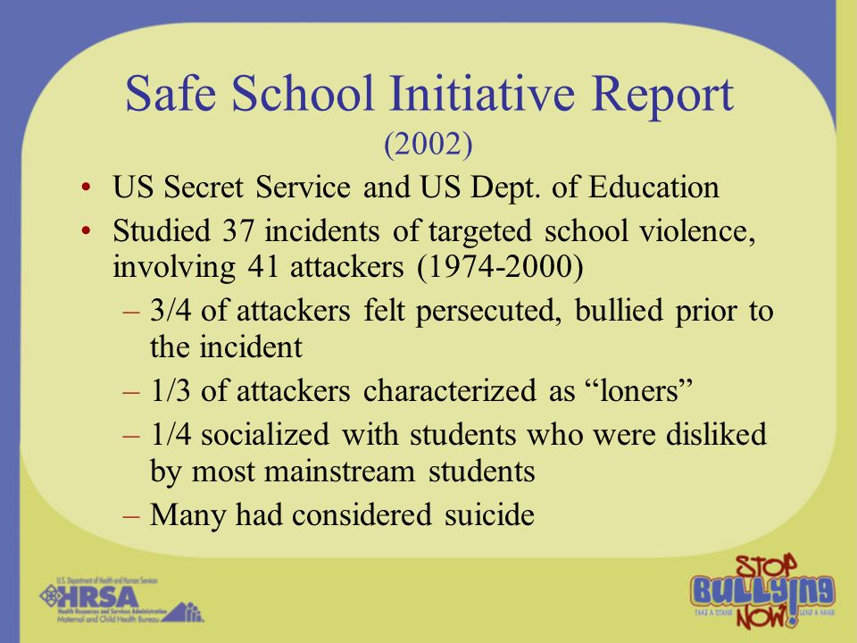Safe School Initiative Report (2002)