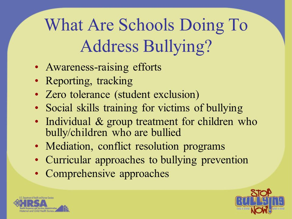 What Are Schools Doing To Address Bullying