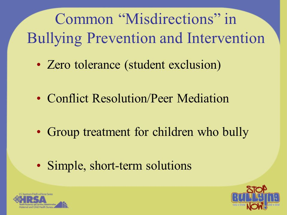 Common Misdirections in Bullying Prevention and Intervention