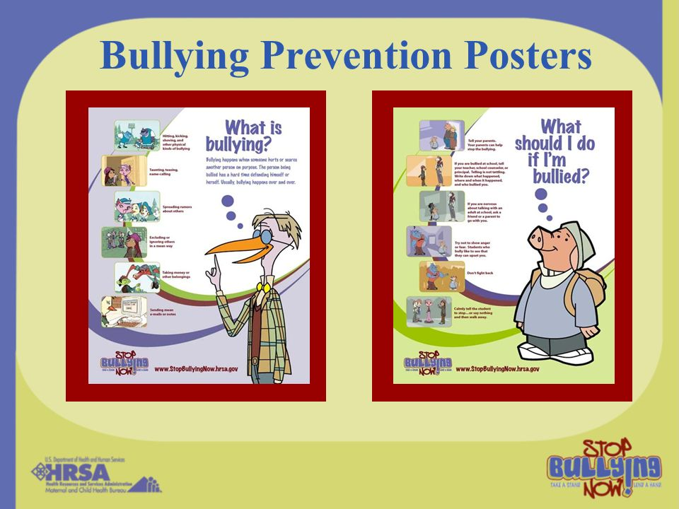 Bullying Prevention Posters