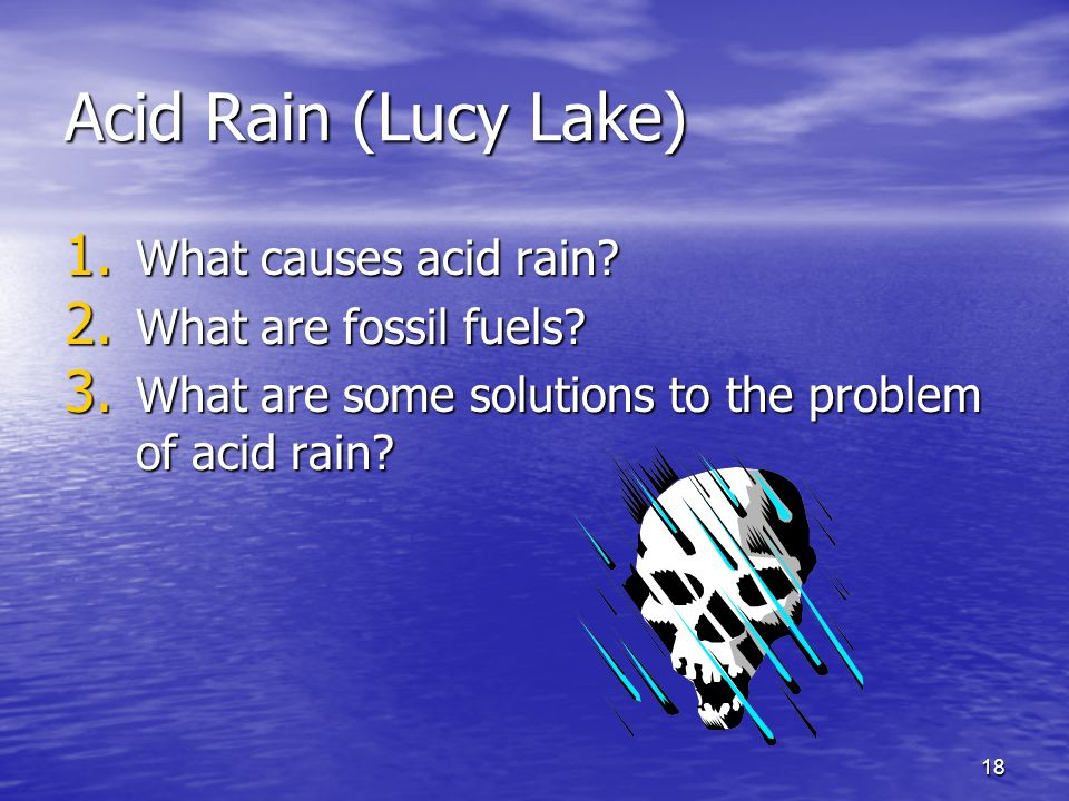 an introduction to the problem of acid rain Acid rain: acid rain,  acid rain is a worldwide problem and has been well documented for eastern north america and the  introduction chemistry of acid deposition.