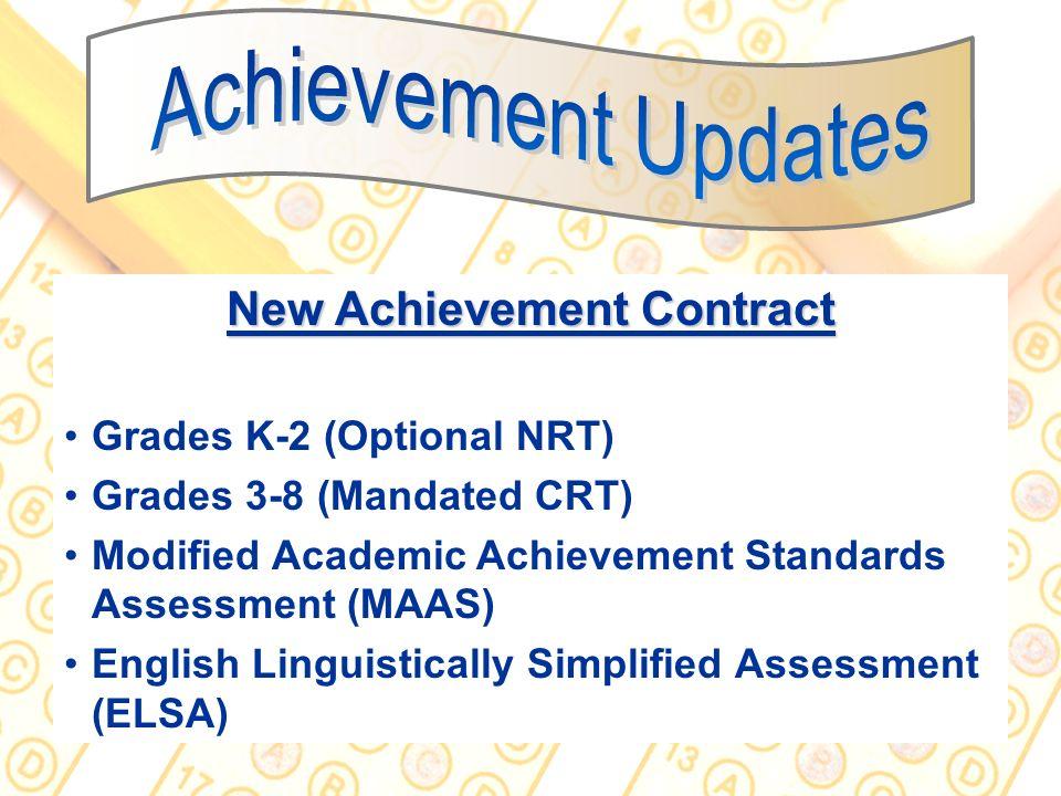 New Achievement Contract
