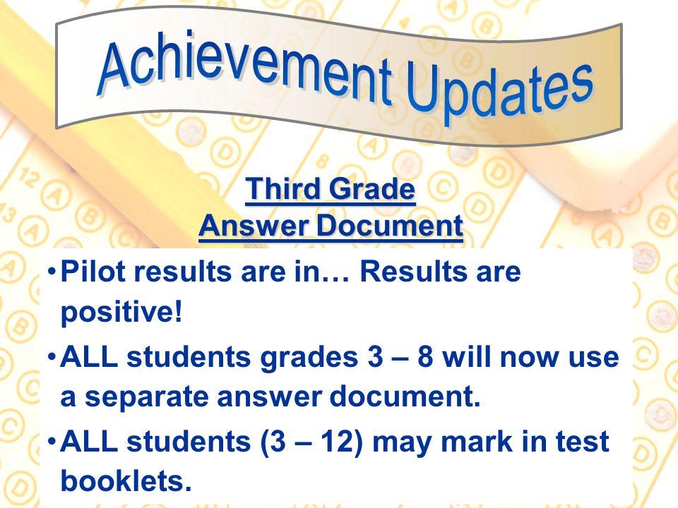 Third Grade Answer Document