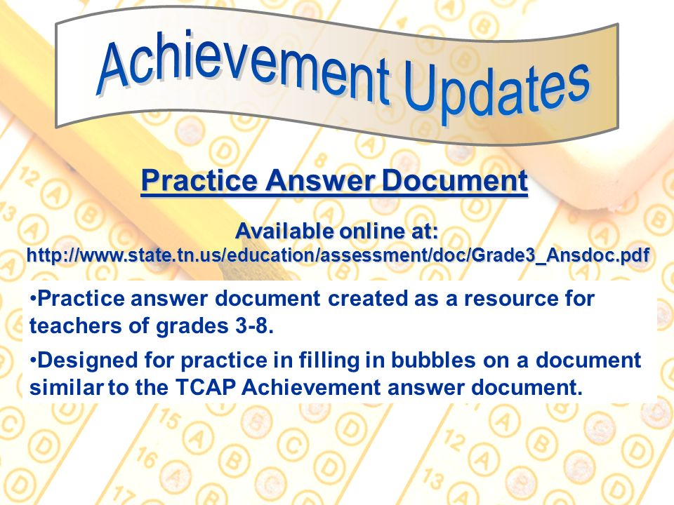 Practice Answer Document