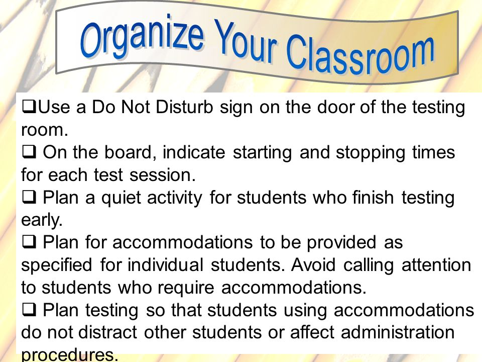 Organize Your Classroom
