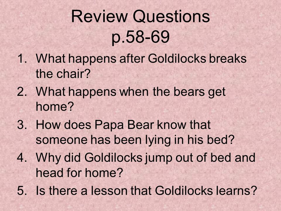 Goldilocks And The Three Bears Ppt Video Online Download