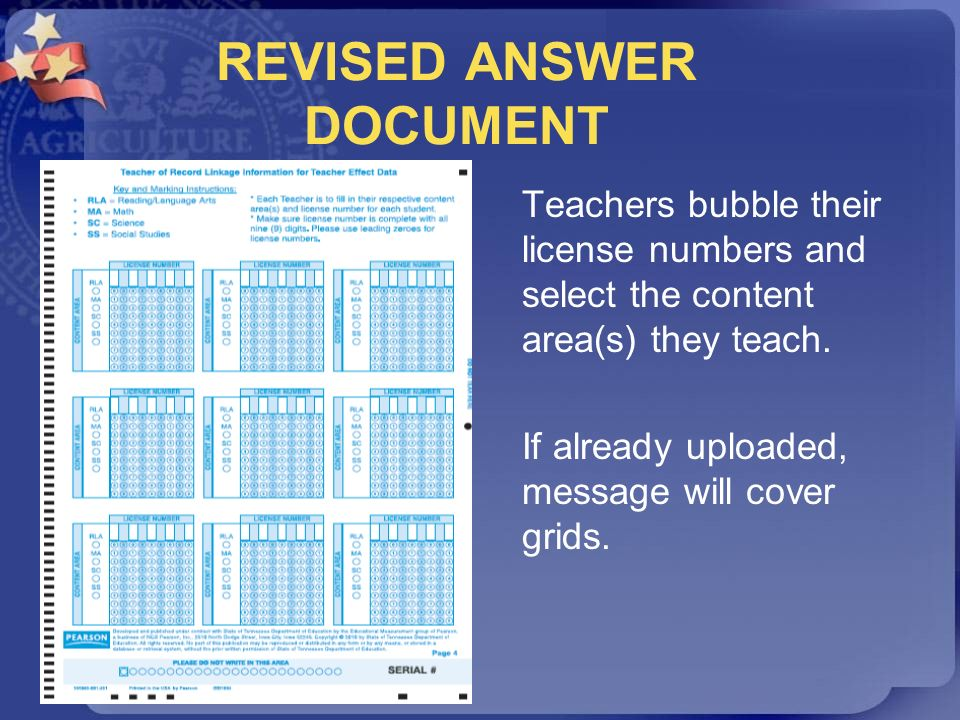 REVISED ANSWER DOCUMENT