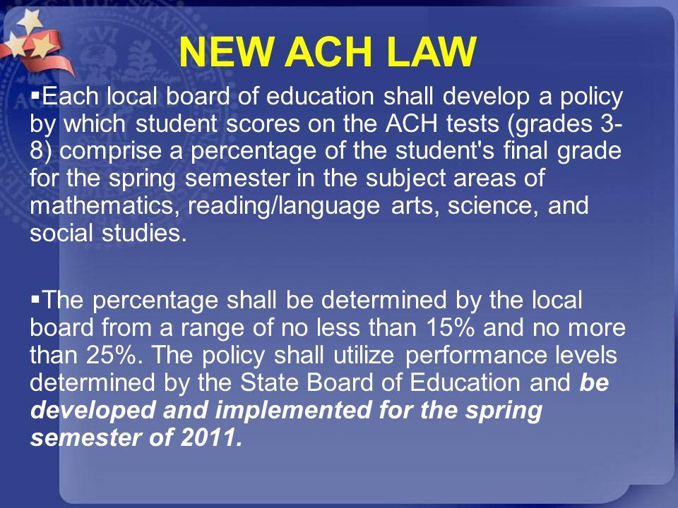NEW ACH LAW