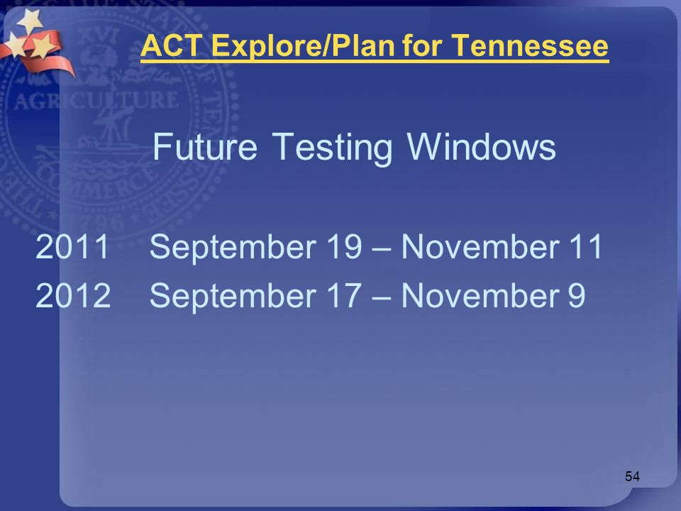 ACT Explore/Plan for Tennessee