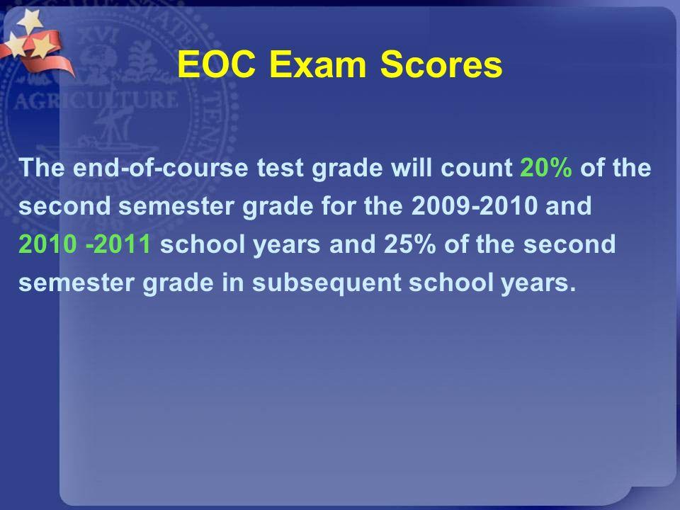 EOC Exam Scores