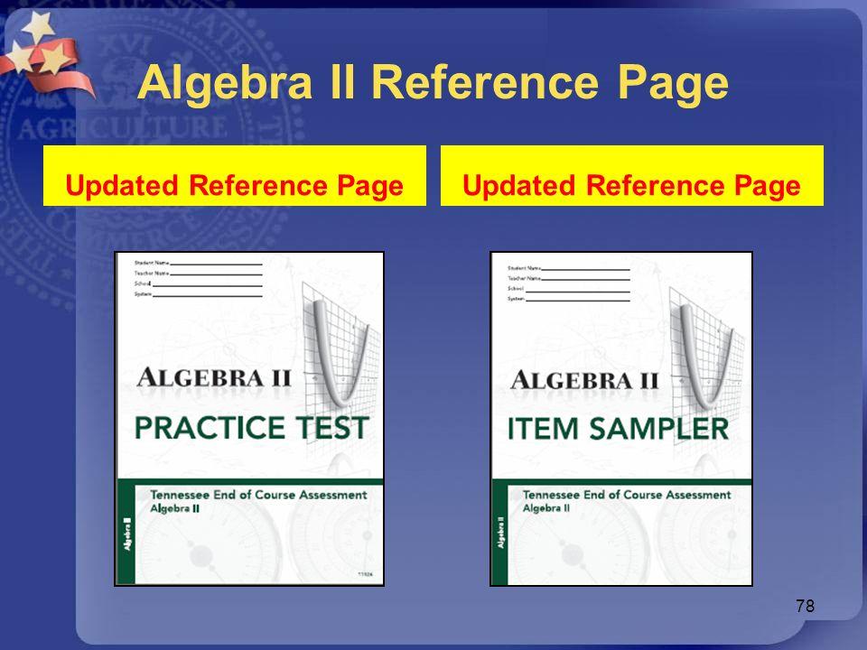 Algebra II Reference Page