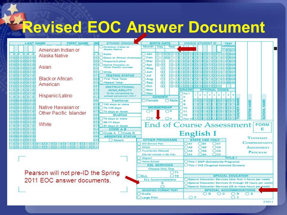Revised EOC Answer Document