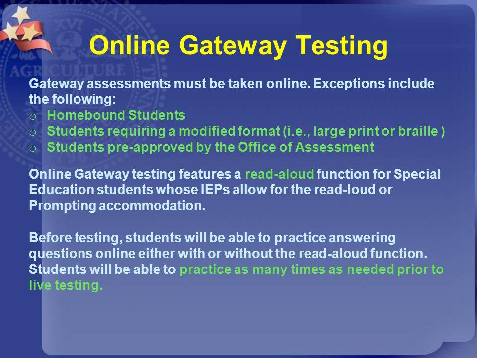 Online Gateway Testing