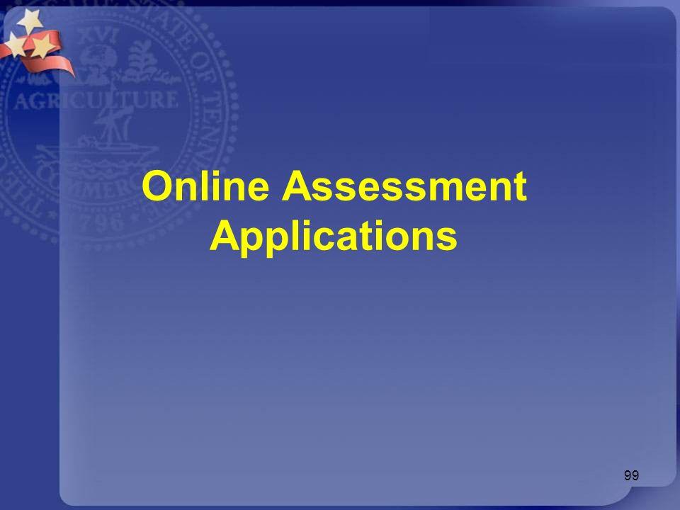 Online Assessment Applications