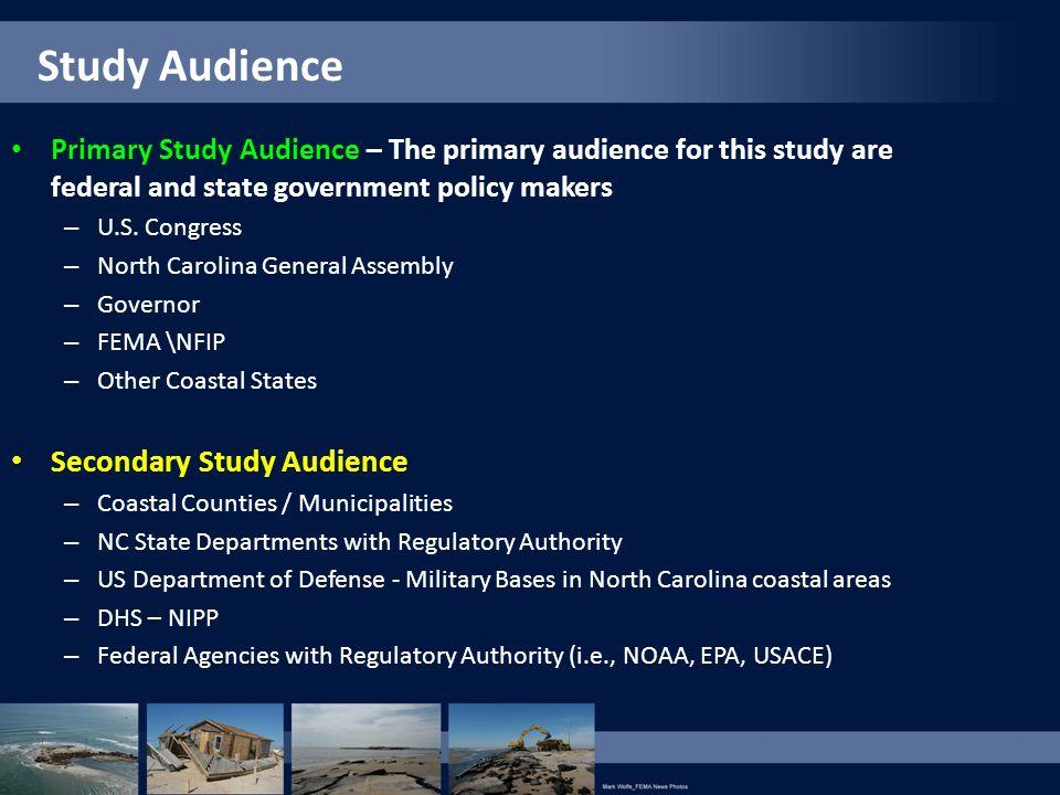 Study Audience Secondary Study Audience