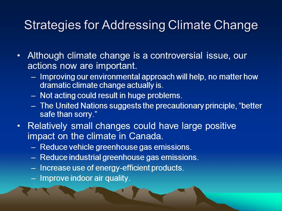 Strategies for Addressing Climate Change
